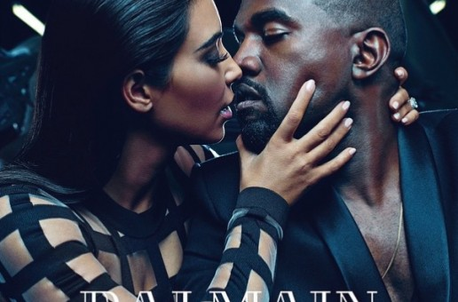 Kim Kardashian & Kanye West Star In Balmain New Ad Campaign