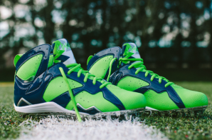 "Seattle Seahawks Safety Earl Thomas Unveils His Super Bowl 49 ""Air Jordan 7"" Cleats (Photos)"