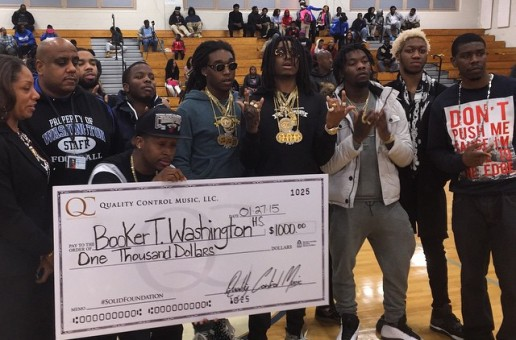 OG Maco, Migos & QC The Label Donate $1000 To Booker T. Washington High School In Atlanta
