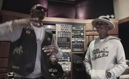 Snoop Dogg & Pharrell Hit The Studio For 'BUSH' Pt.1 (Video)