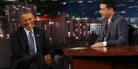 President Obama Talks Kanye West, Ferguson, Reads Mean Tweets & More On 'Jimmy Kimmel Live!' (Video)