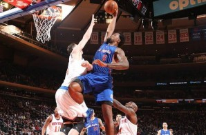 Los Angeles Clippers Big Man DeAndre Jordan Posterizes New York Knicks Center Jason Smith (Video)