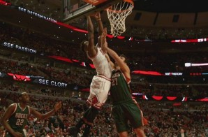 Chicago Bulls Star Jimmy Butler Overpowers Pachulia For A Nasty Two-Handed Jam (Video)