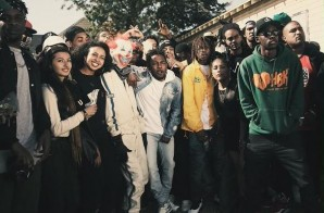 On Set Of Kendrick Lamar's 'Alright' Video