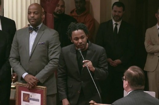 "Kendrick Lamar Receives ""Generational Icon"" Award From California State Senate! (Video)"