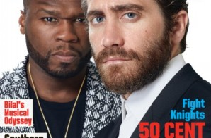 """Southpaw"" Stars 50 Cent & Jake Gyllenhaal Cover Vibe Magazine (Photos)"