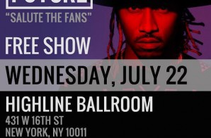 Future – 'Salute The Fans' NYC Show (Live Stream)