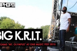 "Big K.R.I.T. Performs ""Mt. Olympus"" During One Music Fest 2015 (Video)"