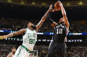 San Antonio Spurs Big Free Agent Pickup LaMarcus Aldridge Drops 24 and Grabs 14 Boards Against the Boston Celtics (Video)