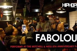 "Fabolous Performs ""We Good"" & ""Ball Drop"" at The Mitchell & Ness 5 Year Anniversary Party (Video)"