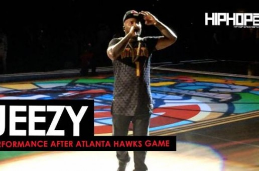 """Jeezy Performs """"God"""",""""Bottom Of The Map"""" & More At The Thunder vs. Hawks Game (Post Game) (Video)"""