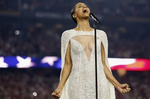Ciara Sings National Anthem At NCAA Championship Game