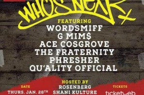 Hot 97 Presents Who's Next At SOB's Feat. Wordsmiff, Phresher, G Mim$ & More