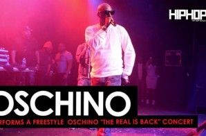 """Oschino Spits a Freestyle at his """"The Real is Back"""" Concert (HHS1987 Exclusive) (Video)"""