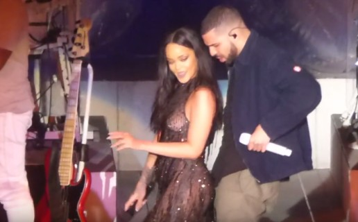 Drake Joins Rihanna On Stage In LA (Video)