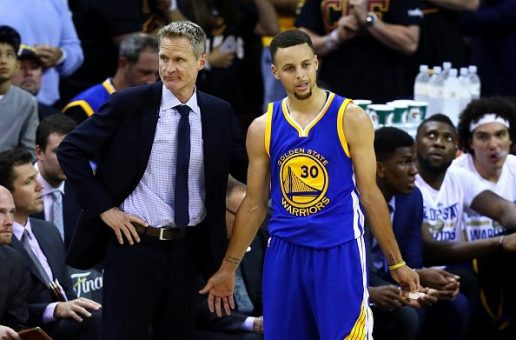 Steve Kerr (Criticizing Officials) & Steph Curry (Tossing Mouthpiece) Have Both Been Fined $25,000 By The NBA