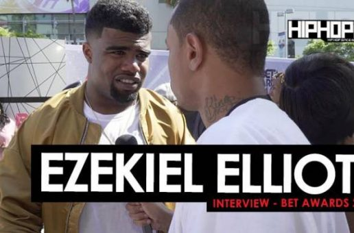 Ezekiel Elliott Talks Playing For The Dallas Cowboys, Learning From Michael Irvin, The Ohio State Buckeyes & More On The 2016 BET Awards Red Carpet (Video)