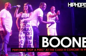 "Cardi B Brings out Boone to Perform ""Pop A Perc"" at her ""Underestimated"" Tour in Philly"